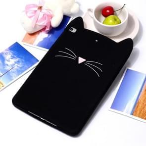 Beard Cat Pattern Set Silicone Protection for IPad mini 4 / mini 3 / mini 2(Black)
