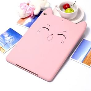 Happy Cat Design Silicone Case for iPad 9.7 (2018) / iPad 9.7 (2017) & Pro 9.7 inch & Air 2 & Air (Pink)