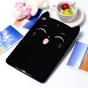 Happy Cat Pattern Set Silicone Protective Case for iPad mini 5 / mini 4 / mini 3 / mini 2 / mini(Black)