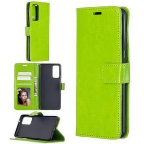 Voor Samsung Galaxy S20 FE Crazy Horse Texture Horizontale Flip Lederen case met Holder & Card Slots & Wallet & Photo Frame(Groen)