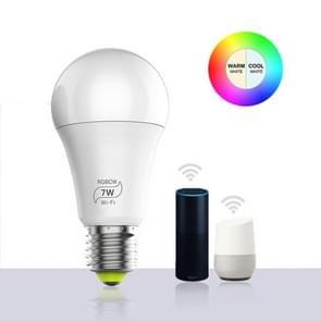 7W E27 RGBCW WIFI LED smart bulb wireless smart domoticalamp (RGBCW+Warm Wit+Wit)
