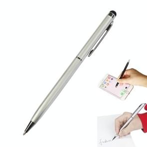 AT-18 3 in 1 Rotary Mobile Phone Touch Screen Handschrift Pen is geschikt voor Apple / Huawei / Samsung (Zilver)