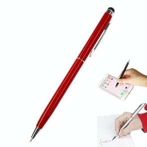AT-18 3 in 1 Rotary Mobile Phone Touch Screen Handschrift Pen is geschikt voor Apple / Huawei / Samsung (Red)