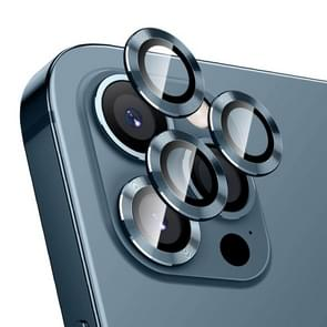 Voor iPhone 12 Pro Max ENKAY Hat-Prince Aluminium Alloy + Tempered Glass Camera Lens Cover Full Coverage Protector (Official Blue)