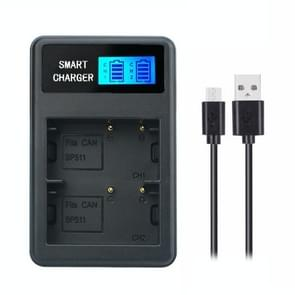 Voor Canon BP-511/511A Smart LCD Display USB Dual Channel Charger