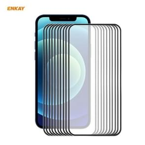 10 PCS ENKAY Hat-Prince 0 2 mm 9H Titanium Alloy Curved Edge Explosion-proof Tempered Glass Full Coverage Screen Protector For iPhone 12 Pro Max(Black) 10 PCS ENKAY Hat-Prince 0 2mm 9H Titanium Alloy Curved Edge Explosion-proof Tempered Glass Full Coverag