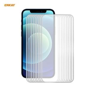 10 PCS ENKAY Hat-Prince 0 2 mm 9H Titanium Alloy Curved Edge Explosion-proof Tempered Glass Full Coverage Screen Protector For iPhone 12 Pro Max(Silver) 10 PCS ENKAY Hat-Prince 0.2mm 9H Titanium Alloy Curved Edge Explosion-proof Tempered Glass Full Covera