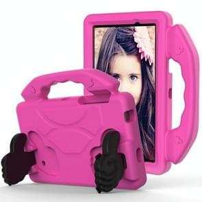 Voor Galaxy Tab 4 7.0 T230 / T231 EVA Materiaal kinderen platte anti vallende deksel beschermende shell met duimbeugel (RoseRed)