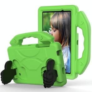 Voor Galaxy Tab 4 7.0 T230 / T231 EVA Materiaal kinderen platte anti vallende deksel beschermende shell met duimbeugel (groen)