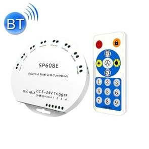 SP608E Dual Signal Output Mobile APP Control Bluetooth LED Controller Kit for WS2812B WS2811 1903 1804 Pixel LED Strip  DC5V~24V