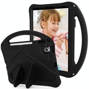 Voor iPad Air (2020) 10.9 EVA Flat Anti Falling Protective Case Shell met Holder(Black)