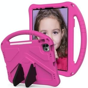 Voor iPad Air (2020) 10.9 EVA Flat Anti Falling Protective Case Shell met Holder(RoseRed)