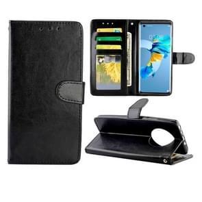 Voor Huawei Mate 40 Crazy Horse Texture Leather Horizontale Flip Beschermhoes met Houder & Card Slots & Wallet & Photo Frame(Zwart)