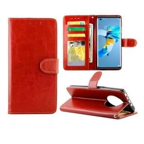 Voor Huawei Mate 40 Crazy Horse Texture Leather Horizontale Flip Beschermhoes met Houder & Card Slots & Wallet & Photo Frame(Bruin)