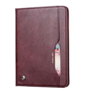 Knead huidtextuur horizontaal Flip lederen case voor Galaxy tab S5e 10 5 T720/T725  met foto frame & houder & kaartsleuven & portemonnee (wijn rood)
