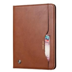 Knead huidtextuur horizontaal Flip lederen case voor Galaxy tab A 10 1 2019 T515/T510  met foto frame & houder & kaartsleuven & portemonnee (bruin)