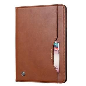 Knead huidtextuur horizontaal Flip lederen case voor Galaxy tab A 8 2019 P200/P205  met foto frame & houder & kaartsleuven & portemonnee (bruin)