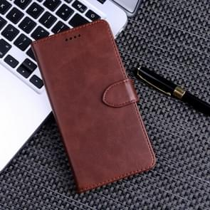 Calf Texture Horizontal Flip Leather Case for Huawei Honor 20i, with Holder & Card Slots & Wallet(Brown)