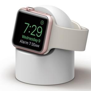 Retro Round Base Silicone Bracket For Apple Watch(White)