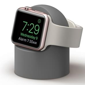 Retro Round Base Silicone Bracket For Apple Watch(Gray)