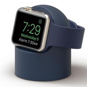 Retro Round Base Silicone Bracket For Apple Watch(Dark Blue)