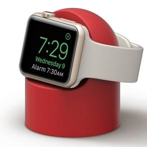 Retro Round Base Silicone Bracket For Apple Watch(Red)