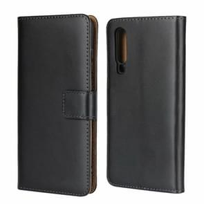 Horizontal Flip Leather Case for Huawei P30, with Magnetic Buckle & Holder & Card Slots & Wallet(Black)