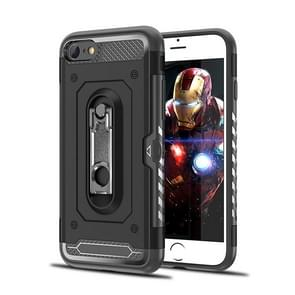 Shockproof PC + TPU Case for iPhone 6 & 6s, with Holder(Black)
