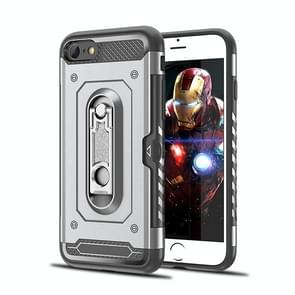 Shockproof PC + TPU Case for iPhone 6 & 6s, with Holder(Grey)