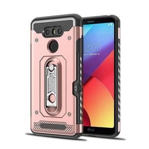 Schokbestendige PC + TPU geval voor LG G6  met houder (Rose goud kast)
