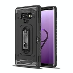 Shockproof PC + TPU Case for Galaxy Note 9, with Holder(Black)