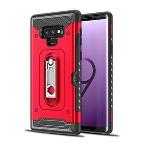 Shockproof PC + TPU Case for Galaxy Note 9, with Holder(Red)