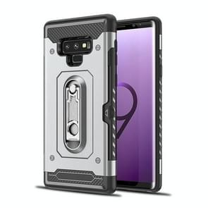 Shockproof PC + TPU Case for Galaxy Note 9, with Holder(Grey)