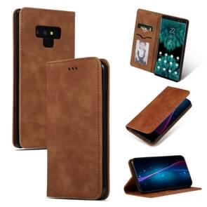 Retro Skin Feel Business Magnetic Horizontal Flip Leather Case for Samsung Galaxy NOTE 9三星(Brown)