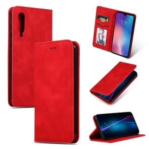 Retro Skin Feel Business Magnetic Horizontal Flip Leather Case for Xiaomi 9(Red)