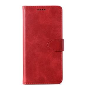 Calf Texture Horizontal Flip Leather Case for Lenovo Z5, with Holder & Card Slots & Wallet(Red)