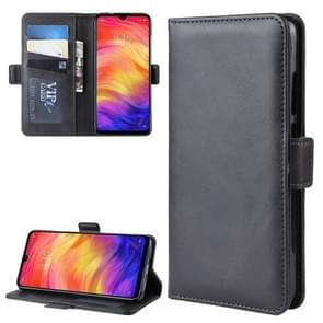 Dual-side Magnetic Buckle Horizontal Flip Leather Case for Xiaomi Redmi Note 7, with Holder & Card Slots & Wallet & Photo Frame(Black)