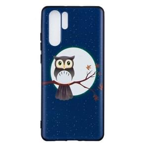 Embossment Patterned TPU Soft Protector Cover Case for Huawei P30 Pro(Tree Hawk)