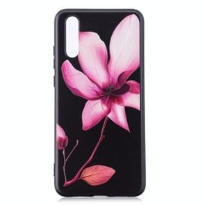 Embossment patroon TPU Soft Protector Cover Case voor Huawei mate 20 Pro (Lotus)