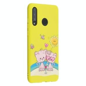 Frosted Pattern TPU Protective Case for Huawei P30 Lite / Nova 4e(Fovers Bear)