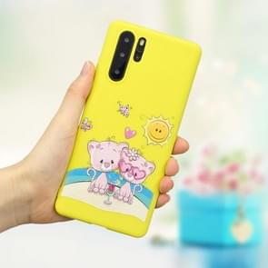 Frosted Pattern TPU Protective Case for Huawei P30 Pro(Lovers Bear)