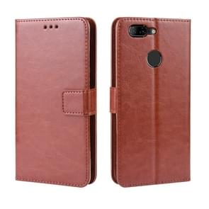 Retro Crazy Horse Texture Horizontal Flip Leather Case for Lenovo K5S , with Holder & Card Slots & Photo Frame(Brown)