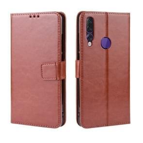 Retro Crazy Horse Texture Horizontal Flip Leather Case for Lenovo Z5S , with Holder & Card Slots & Photo Frame(Brown)
