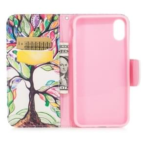 Colored Drawing Pattern Horizontal Flip Leather Case for Samsung Galaxy S10e,with Holder & Card Slots & Wallet(Tree of Life)