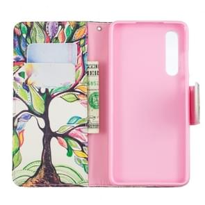 Colored Drawing Pattern Horizontal Flip Leather Case for Huawei P30,with Holder & Card Slots & Wallet(Tree of Life)