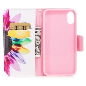Colored Drawing Pattern Horizontal Flip Leather Case for Huawei Mate 20 Pro,with Holder & Card Slots & Wallet(Sunflower)