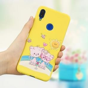 Frosted Pattern TPU Protective Case for Xiaomi Redmi Note 7 / Note 7 Pro(Lovers Bear)