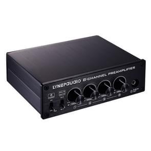 Pre-versterker speaker distributeur  2 in 8 uit Switcher  speaker vergelijking  signaal booster  met volume regeling en oortelefoon 16-600 ohm/monitor functie 2-kanaals signaal switching input