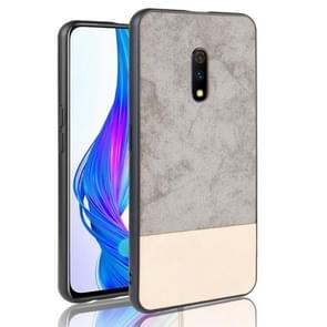 Shockproof Color Matching Denim PC + PU + TPU Protective Case For Oppo K3/Realme X(Gray)