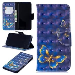 3D Colored Drawing Pattern Horizontal Flip Leather Case for Redmi  Note7, with Holder & Card Slots & Wallet(Butterfly)